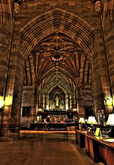 #Bibliotecas Yale Library Arches