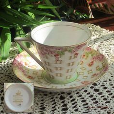 Royal Standard by Chapmans 257 Basket Weave Bone China Tea Cup and Saucer