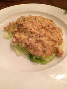 Mitt liv med lavkarbo: Carbonara Lavkarbo Squash, Bacon, Keto, Chicken, Food, Pumpkins, Gourd, Essen, Meals