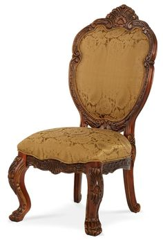 AICO Furniture - Chateau Beauvais Side Chair in Noble Bark (Set of 2) - 75003-39
