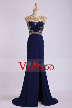 2015 columna primicia la blusa moldeada Prom Vestidos de gasa y tul tribunal tren
