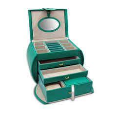 Morelle Diana Purse Leather Emerald Jewelry Box