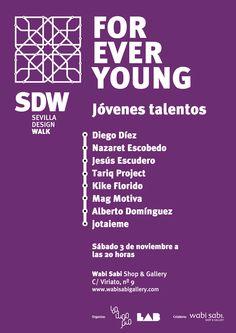 Cartel de presentación de jóvenes talentos Sevilla Design Walk