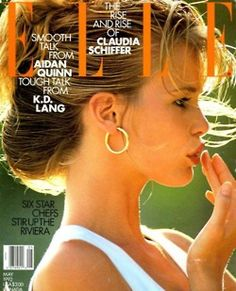80s-90s-supermodels:    Elle Canada, May 1992Model: Claudia Schiffer  ( Source: modascans )