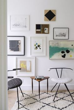 modern art gallery wall. / sfgirlbybay