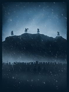 """superiorityproject:  """"White Walkers""""   Thrilling Shadow Illustration of the White Walkers by Marko Manev"""