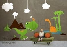 Vinyl Dinosaur Theme Wall Decals Stickers Kids Boys -078 — Removable Wall Decals & Stickers by My Friend Matilda