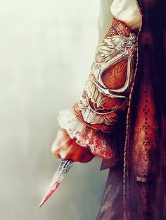 Assassin's Creed game art. The symbolic hidden blade