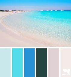 Color Escape palette from Design Seeds Colour Pallette, Color Palate, Colour Schemes, Color Combos, Color Concept, Beach Color, Himmelblau, Design Seeds, Colour Board