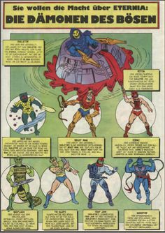 Masters of the Universe villains in German   He-Man