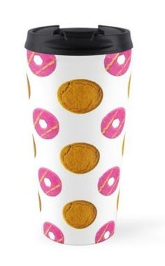 Biscuit Polka Dots Pattern Travel Mugs https://www.redbubble.com/people/markuk97/works/29974071-biscuit-polka-dots-pattern?asc=t&p=travel-mug via @redbubble #PolkaDot #TravelMug #cup #pattern #biscuits #GingerNut #PartyRing #pink #brown #food #tasty #snack #sweet #coated #circle #icing #treat #fun