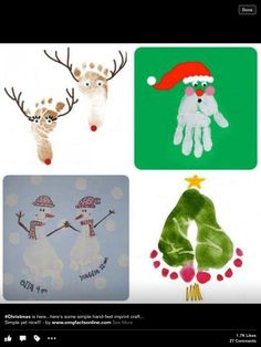 Christmas Craft Ideas for Kids This Holiday Season Christmas Crafts with hands and feet! Love hands and feet crafts! ✋Christmas Crafts with hands and feet! Love hands and feet crafts! Christmas Baby, Christmas Crafts To Make, Christmas Projects, Christmas Decorations, Christmas Ornaments, Christmas Handprint Crafts, Kid Projects, Xmas Cards, Christmas Card Ideas With Kids