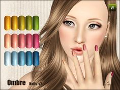 New beautiful, realistic nails for female sims.  Found in TSR Category 'Sims 3 Gloves'
