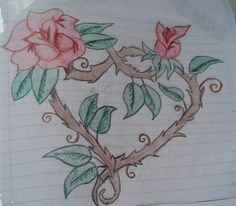 #folwer #heart #drawing