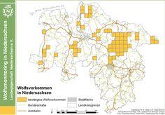 Wildtiermanagement Niedersachsen - Wolf - Wolfsnachweise in Niedersachsen