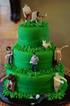 Zombie cake walking dead cake