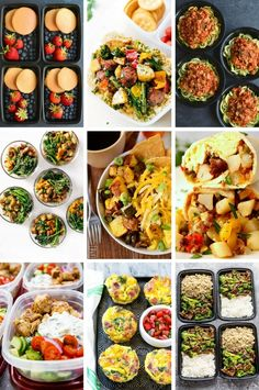 36 Easy Meal Prep Recipes for breakfast, lunch and dinner.