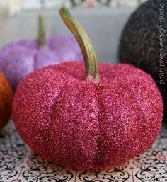 pink sparkly pumpkin
