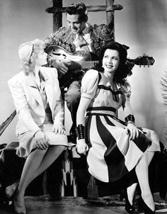 "Lucy & Desi with Ann Miller for the film ""Too Many Girls"" (1940)"