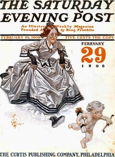 "1908 ""February 29"" The Saturday Evening Post. February 29 1908:  by J. C. Leyendecker"