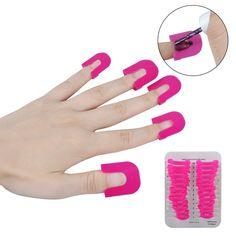Biutee 26 Pcs/lot Nail Polish Tips Cover Edge Anti-Flooding Plastic Template Clip Manicure Tools Set Nail Tools