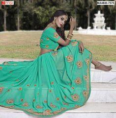 women's Beautiful Georgett  Sarees  #Sarees #Saris #Fashion #Looking #Popular #Offers #Design #Trending #Zinngafashion  #Designer #Offers