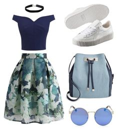 """""""Summer """" by leatitiakhalid on Polyvore featuring mode, Chicwish, Puma, INC International Concepts et Miss Selfridge"""