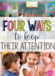 Keeping your students' attention doesn't need to look like standing on tables, singing and dancing (although, if you want to do that and it works for your students, by all means). I am not knocking it because sometimes I do like to sing and dance (just not on the table...in the classroom). I am sharing my four favorite strategies for keeping students' attention!