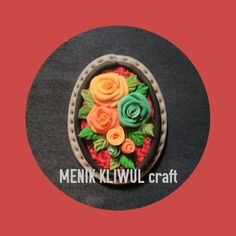 """Flowers"" dry air clay brooch By ""Menik Kliwul"" craft More info and pricing please contact 7retty@gmail.com"