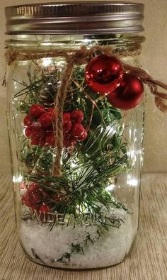 rustic christmas decor shabby chic christmas decor primitive christmas decor mason jar decor lighted mason jar luminary country