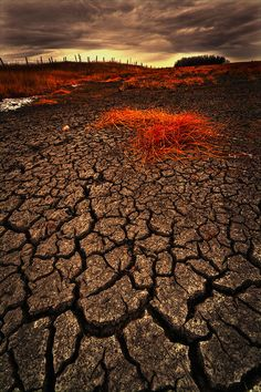Cracked Parched Earth And Stormy Skies, parts of California What A Wonderful World, Beautiful World, Beautiful Places, Macro Photography, Landscape Photography, The Burning Maze, Excursion, Dark Skies, Fantasy Landscape