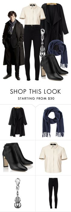 """BBC Sherlock"" by meredithwelch ❤ liked on Polyvore featuring Paul Smith, Burberry, Personal Charm, Frame Denim, sherlock and bbc"