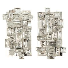 Exceptional Crystal Sconces designed by J. & L. Lobmeyr for The Metropolitan Opera House in New York, Austria c1966