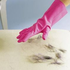 Rubber gloves to remove pet hair Surprising Cleaning New Uses - Real Simple