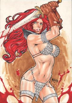 Red Sonja by Fredbenes.deviantart.com on @deviantART