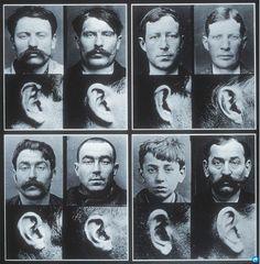 Alphonse Bertillon 1887, ear identification.
