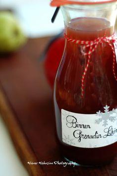 Birnen-Grenadin-Likör