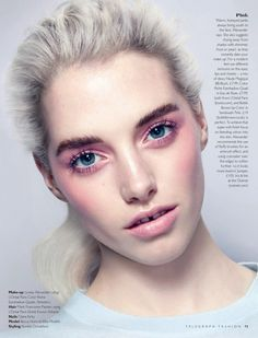 Magazine: Telegraph Fashion Spring/Summer 2014 Beauty Editorial: Return of the Sex Pastels Photographer: John Akehurst Model: Becca Horn Styling: Aurelia Donaldson Hair: Mark Francome-Painter Make-up: Lynsey Alexander Nails: Claire Kirby
