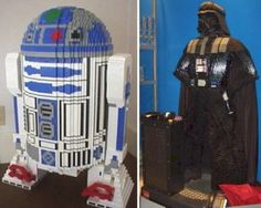 These are made completely out of Lego pieces.