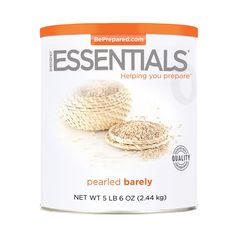 Emergency Essentials® Pearled Barley - 86 oz - http://www.disasternecessities.com/product/FS%20G150