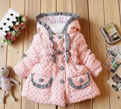 Pink Buckle Belt Hooded Puffer Coat - Girls by Richie House ...