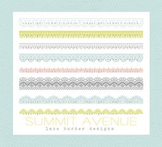 INSTANT DOWNLOAD CLiP ArT Lace Borders commercial by summitavenue, $5.00