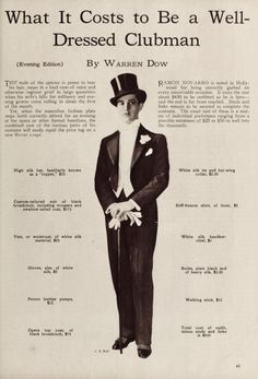 1926 men's formal gentlemen club attire