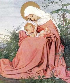 Madonna and Baby Jesus. Religious Pictures, Jesus Pictures, Religious Icons, Religious Art, Angel Pictures, Divine Mother, Blessed Mother Mary, Blessed Virgin Mary, Madonna Und Kind