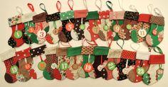 Country Home Christmas Advent Calendar by SimbieYau on Etsy