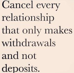 Deposits withdrawals relationships dating
