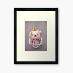 Framed Prints, Art Prints, Bear Toy, Rabbit, My Arts, Printed, Toys, Awesome, Cute