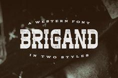 Brigand Typeface by Tugcu Design Co. on Creative Market