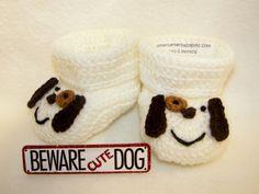 Bottini del bambino, cucciolo, cane, NB per 6 mesi o 6-12 mesi finemente rifinito uncinetto bambino regalo