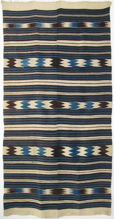 Not Navajo.either Chimayo, Rio Grande, or Mexican. Textiles, Textile Patterns, Textile Design, Print Patterns, Navajo Weaving, Navajo Rugs, Native American Rugs, Navajo Print, Indigo